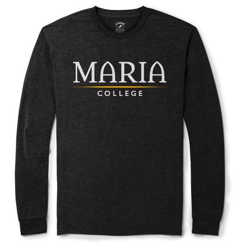 League Long Sleeve Shirt (Has a slight v-neck) Black