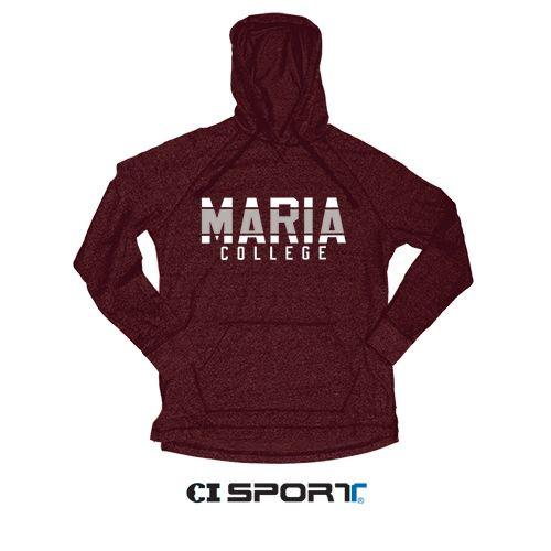 Marled Premium Jersey Hood (Maroon Heather)