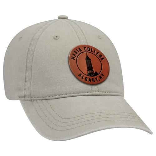 Vintaged Washed Dad Hat Stone Grey