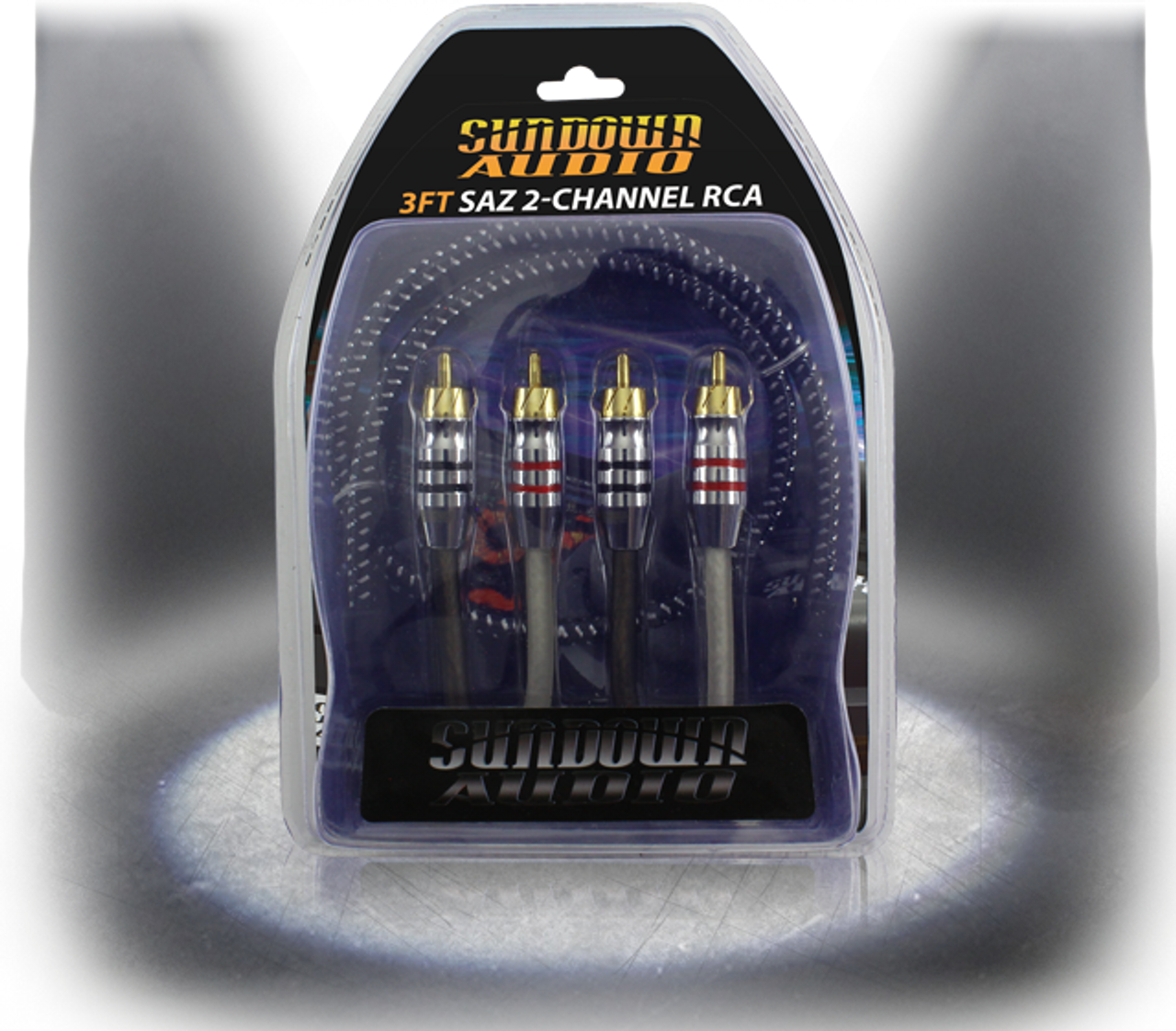 SUNDOWN AUDIO 25FT SAZ 4CHANNEL SOLID 100/% OFC COPPER TWISTED RCA AMPLIFIER WIRE