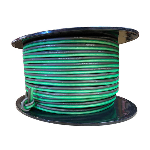 Down4Sound 14G OFC Speaker Wire (Lime Green&Black)  By the Foot