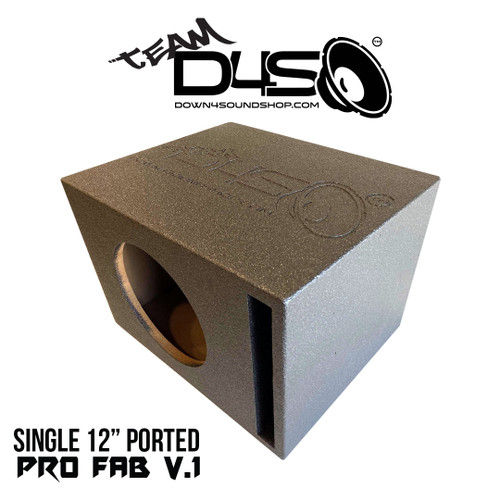 "Team DOWN4SOUND BUDGET BANGER ""PRO-FAB"" SUB BOX - SINGLE 12"