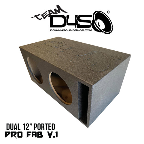 "TEAM DOWN4SOUND BUDGET BANGER ""PRO-FAB"" SUB BOX - DUAL 12"