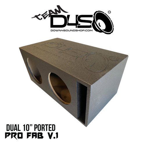 "Team DOWN4SOUND BUDGET BANGER ""PRO-FAB"" SUB BOX - DUAL 10"