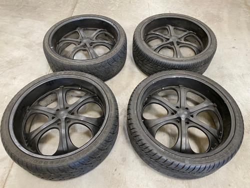"""4 - 26"""" Gianelle wheels off of NEO HOE + Brand new spare tire"""