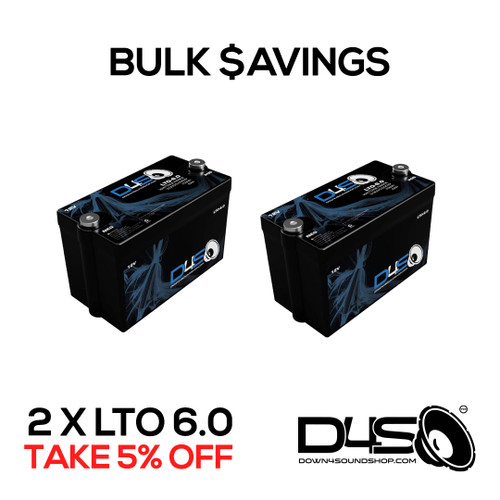 2 - DOWN4SOUND | D4S LTO 6.0 - 12V Lithium Battery (6,000 - 10,000 watts)