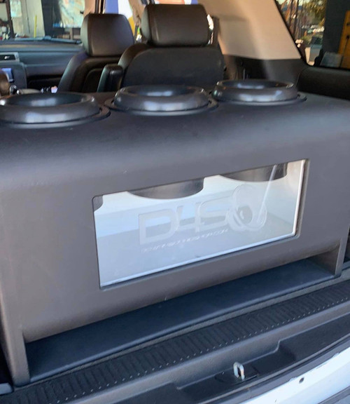 """Triple 10"""" Custom Kerf Ported Subwoofer Box  (HAND MADE IN THE USA)"""
