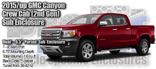 "2015/up GMC Canyon - Dual 6.5"" Ported Enclosure"