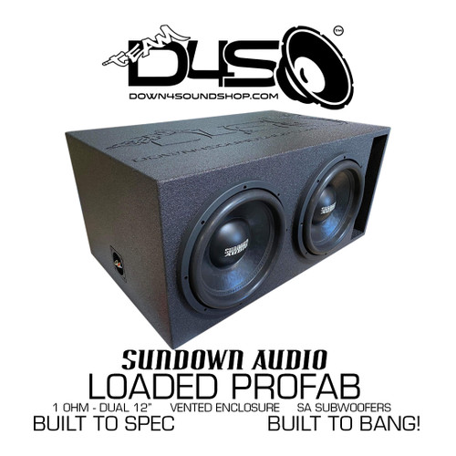 Sundown Audio SA 12 DUAL LOADED VENTED ENCLOSURE