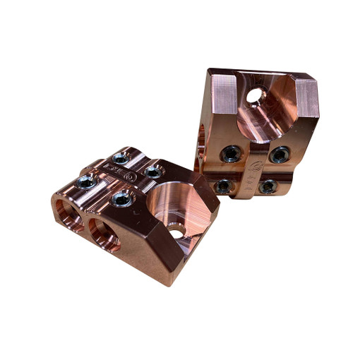 4 SPOT - Copper D4S Battery Distro Block - 1/0 AWG input
