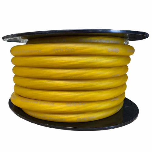 Down4sound 50 FT 1/0 Tinned OFC Wire (YELLOW)
