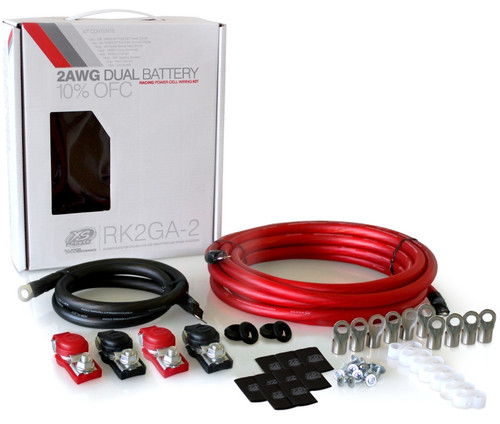 XP FLEX, 2 AWG, Dual Battery, Light-Weight Racing Cable Kit