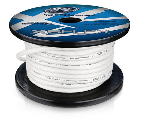 4 AWG Cable, 100% Oxygen Free Tinned Copper, Iced Clear, 100ft Spool