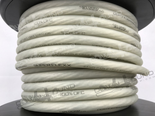 Certified Basshead 4 AWG OFC Tinned Wire (Clear)  BY THE FOOT