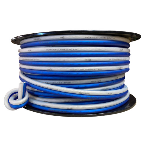 Down4Sound  8G OFCSPK Wire (Blue&Clear)  By the Foot