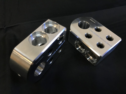 BATTERY DISTRO BLOCK - SAE/TOP POST STYLE - 4 SPOT  (PAIR)