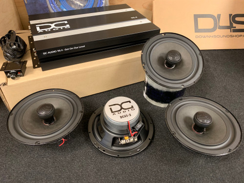 "DC AUDIO SOUND QUALITY PACKAGE - DC 90.4 + 2 PAIR DC 6.5"" SPEAKER SETS!"
