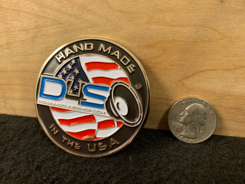 """DOWN4SOUND """"MADE IN AMERCA"""" MEDALLION / PIN"""