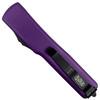 Microtech Purple UTX-70 Dagger OTF Auto Knife, Black Blade REAR VIEW
