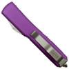 Microtech 123-10CCVI Violet Contoured Ultratech T/E OTF Auto Knife, Stonewash Blade REAR VIEW