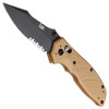 HK 54153 Flat Dark Earth Exemplar Folder Knife, 154CM Black Combo Blade