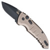 Hogue Knives 24127 Flat Dark Earth A01 Microswitch Cali-Legal Auto Knife, CPM-154 Black Blade