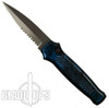Piranha Blue Prowler Auto Knife, 154CM Black Combo Blade