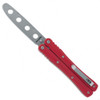 BlackFox Knives BF-501TK Red Magnetic Balisong Butterfly Knife, Stonewash Trainer Blade
