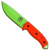 ESEE Knives ESEE-5P-VG Orange Fixed Blade Knife, 1095 Carbon Venom Green Blade