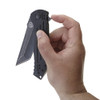 Ruger 2-Stage Compact Flipper Knife, Black Stonewash Combo Tanto Blade