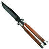 Bear & Son CB17 Cocobolo Balisong Butterfly Knife, Black Blade