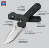 Benchmade 407SBK Vallation Spring Assist Knife, CPM-S30V Black Combo Blade