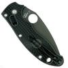 Spyderco Lightweight Manix 2 Folder Knife, CTS-BD1 Black Blade Clip View