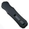 Piranha Excalibur D/E OTF Auto Knife, 154CM Black Blade Clip View