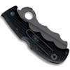 Spyderco Rescue Assist I Folder Knife, Black FRN, Black Spyderedge Blade