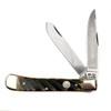 Boker Classic 112525WBB Trapper Washboard Bone Non-Locking Folder Knife, Satin Blades