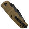 Boker Tan XL Kalashnikov Recurve Tanto Auto Knife, AUS-8 Black Blade