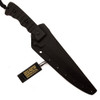 TOPS Knives BlackOut Wild Pig Hunter Fixed Blade Knife, 1095 Carbon Black Blade
