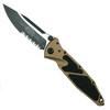 Microtech 160-2TA Tan Socom Elite S/E Folder Knife, Black Combo Blade