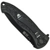 Smith & Wesson Small SWATBS Spring Assist Knife, Black Handle, Black Combo Blade