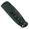 Boker Kalashnikov Tanto Auto Knife, AUS-8 Black Combo Blade Clip View