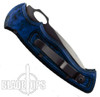 Piranha Blue Hybrid Auto Knife, 154CM Black Blade
