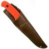 Bear & Son Blaze Orange Drop Point Pro Skinner Knife  Sheath View