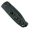 Boker Kalashnikov Auto Knife, AUS-8 Black Combo Blade Clip View