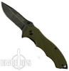 TacForce Green LinerLock Assist Knife, Black Stonewash Clip Blade