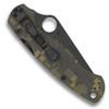 pyderco C81GPCMOBK2 Digi Camo Paramilitary 2 Folder Knife, CPM-S30V Black Blade REAR VIEW