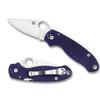 Spyderco C223GPDBL Dark Blue Para 3 Folder Knife, CPM-S110V Satin Blade REAR VIEW