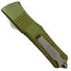 Microtech 143-5OD OD Green Combat Troodon S/E OTF Auto Knife, Satin Combo Blade