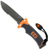 Bear Grylls Survival Series Ultimate Knife, Fixed Blade Drop Point Part Serrated