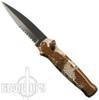 Piranha Desert Camo Prowler Auto Knife, 154CM Black Combo Blade